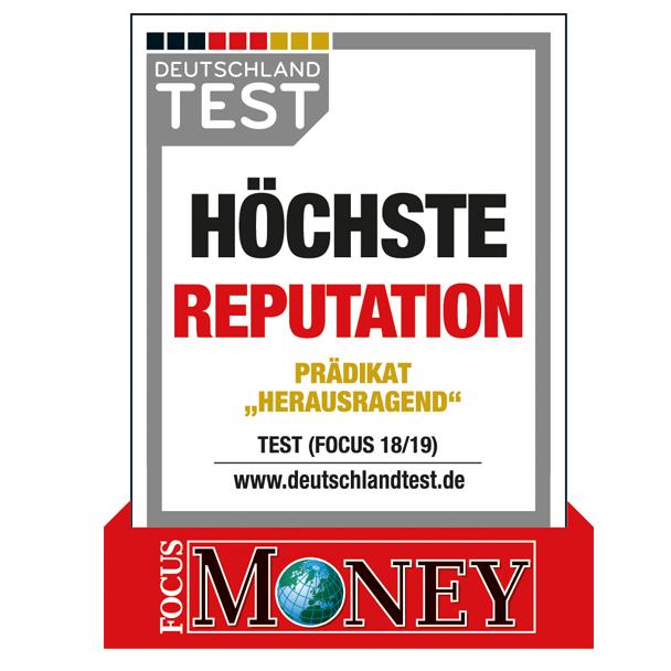 """Auszeichnung """"Höchste Reputation"""""""
